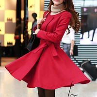 Red wool jacket women coat women jacket women dress Winter
