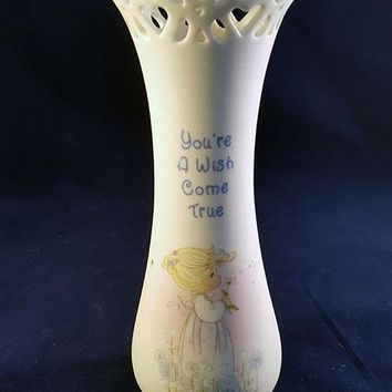 "Precious Moments ""You're A Wish Come True"" Bud Vase"