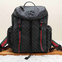Gucci vintage casual wild flip large capacity backpack travel bag