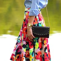 Bright Floral Skirts | Made in USA