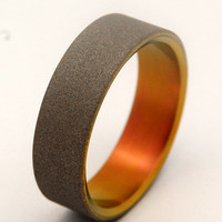 Sandblasted Sunset - Titanium Wedding Band