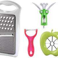 Kitchen Utensil Set Bottle Opener, Grater, Peeler & Apple Slicer