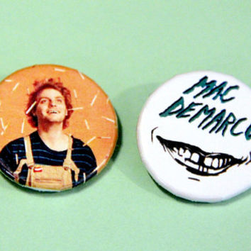"Mac Demarco Button Pair - 1 1/4"" Pin-back Buttons"