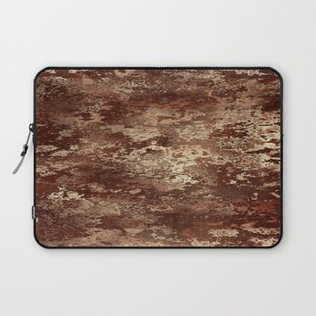 Brown wood bark texture Laptop Sleeve by Natalia Bykova