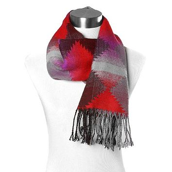 Black and Red Aztec Scarf