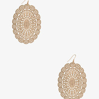 Web Medallion Earrings