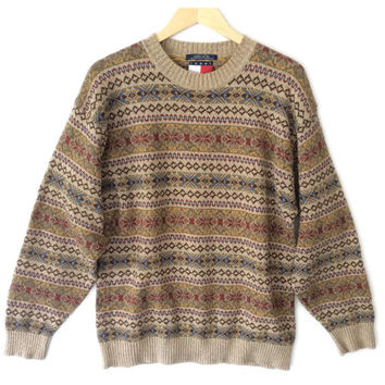 Tommy Hilfiger Tan Tacky Ugly Ski Sweater
