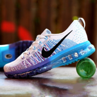 """NIKE"" Trending Fashion Casual Sports Shoes Gradient Blue Purple Soles"