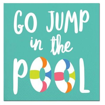 """Go Jump in the Pool"" Beverage Paper Napkins (20 ct)"