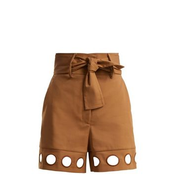 Cut-out detail cotton-blend shorts | Sara Battaglia | MATCHESFASHION.COM UK