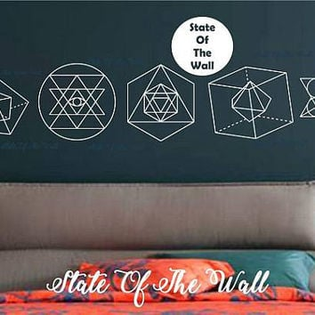 Sacred Geometric Shapes Wall Decal Sticker Art Decor Bedroom Design Mural interior design Science Education Art educational