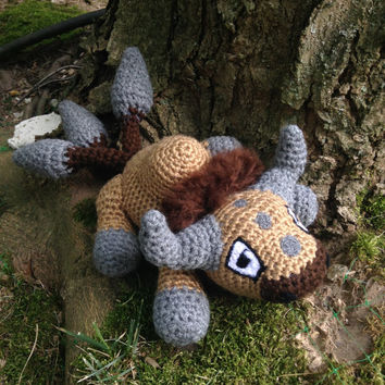 Pokemon Inspired: Tauros Amigurumi (Crochet Plushie/Plush Toy) - MADE TO ORDER