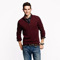 Cotton-cashmere half-zip sweater - cotton-cashmere - Men's sweaters - J.Crew