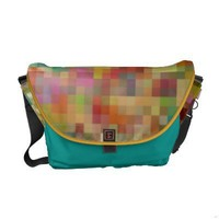 Pixelations Rickshaw Messenger Bag from Zazzle.com