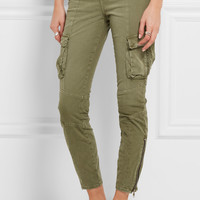 L'Agence - Montgomery stretch-cotton twill skinny pants