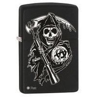 Zippo 28504 Sons of Anarchy Black Matte Lighter