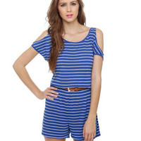 Cute Striped Romper - Blue Romper - $36.00