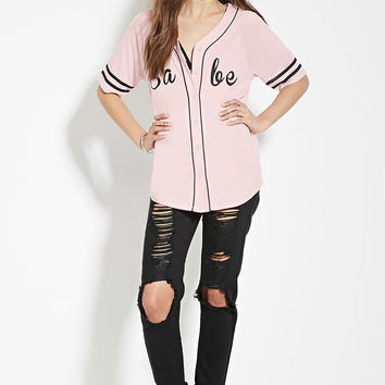 Babe Graphic Baseball Jersey | Forever 21 - 2000169198