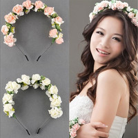New Flower Floral Bridal Hairband Hairband Wedding Prom Hair Accessories [7981212871]