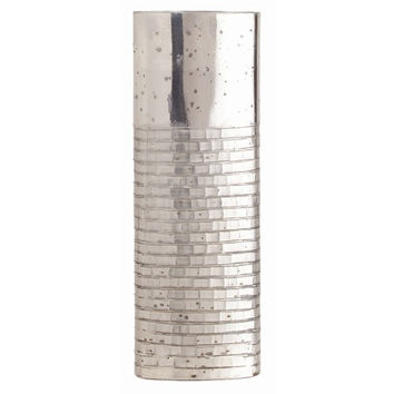 Arteriors Home Walsh Short Brick Etched Oval Glass Vase - Arteriors Home 6724