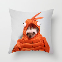 Incognito Hedgehog Throw Pillow by Derek Doi