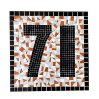Large Mosaic Address Sign // Outdoor House Number Plaque // Custom Colors Available