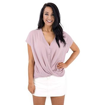 Women's Button Down Wrap Top