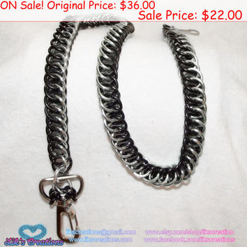 "SALE!!! Half Persian 4-in-1 Wallet Chain Black & Mint 20"" long"