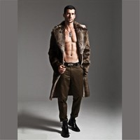 Men's Long Punk Fur Coat