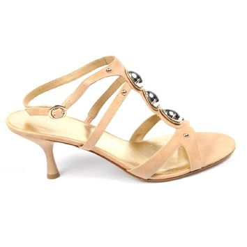 Nine West Womens Ankle Strap Sandal NWMISSIE NATUR LTGOLD