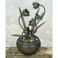 SheilaShrubs.com: Nature's Garden Tulip Metal Fountain D9389 by Coyne's Company: Tabletop Fountains