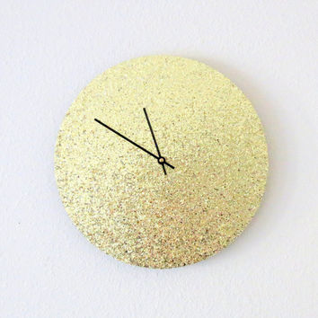 Retro Wall Clock, Gold Clock, Home and Living, Decor & Housewares, Trending Clock, Living Room Decor, Unique Gift