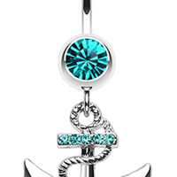 Anchor Dock Belly Button Ring