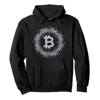 Crypto Currency Bitcoin Symbol Hoodie.