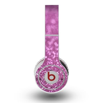 The Pink Unfocused Glimmer Skin for the Original Beats by Dre Wireless Headphones