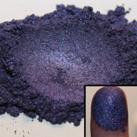 Midnight Purple Mica Powder for soap eyeshadow cosmetics frankenpolish and more