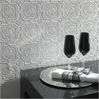 Graham & Brown Paintable Small Squares Wallpaper in White | All Modern