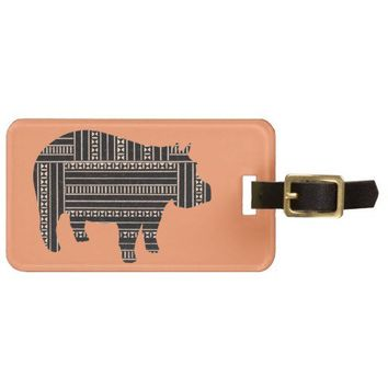 Vintage Antique Hippo Ethnic Pattern Tribal Luggage Tags from Zazzle.com