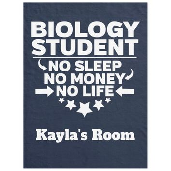 Biology College Major No Sleep No Money No Life Fleece Blanket