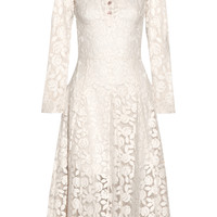 Ryan Lo - Embroidered cotton-blend organza midi dress
