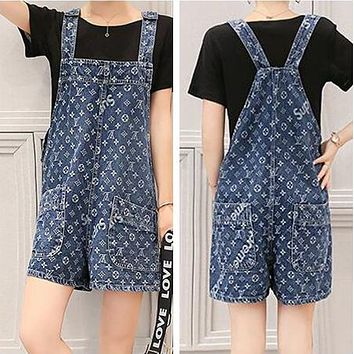 LV X Supreme Hot Sale Popular Women Romper Denim Louis Vuitton Overalls