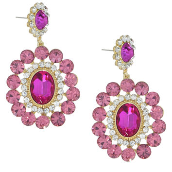 Dazzling in Pink Crystals Earrings