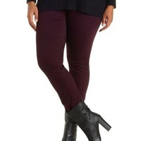 Plus Size Plum Cello Colored Skinny Jeans by Charlotte Russe