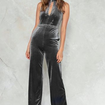 Keep in Touch Velvet Jumpsuit
