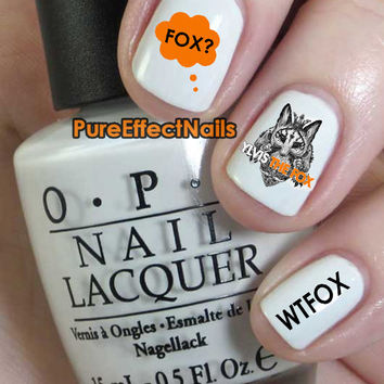 The Fox Nail Decals