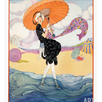 Vogue Cover - July 1919 Regular Giclee Print by Helen Dryden at Art.com
