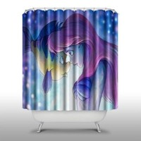 Pink Peri™ The Little Mermaid Shower Curtain Handmade Home & Living Bathroom,71-Inch by 74-Inch