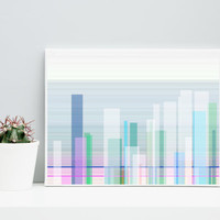 Abstract Art Cityscape cityScape_9u, Limited Edition Giclee 10x8, Paul Klee inspired geeky wall art.