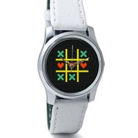 Tic Tac Toe Pixel Art Wrist Watch