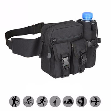 Nylon Belt  Bag With Bottle Pocket